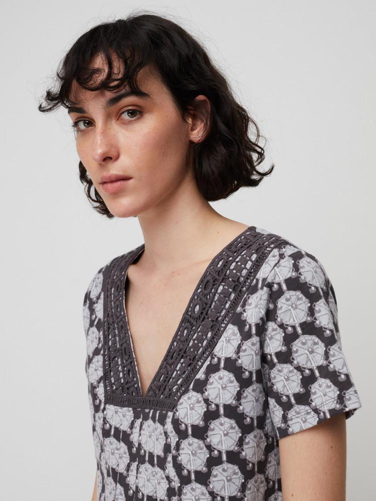 Locket Lace Jersey Tunic Top