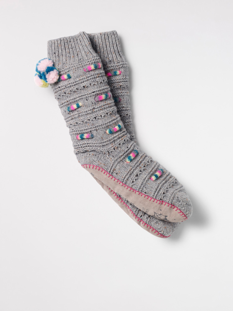 Threading Rope Slipper Sock