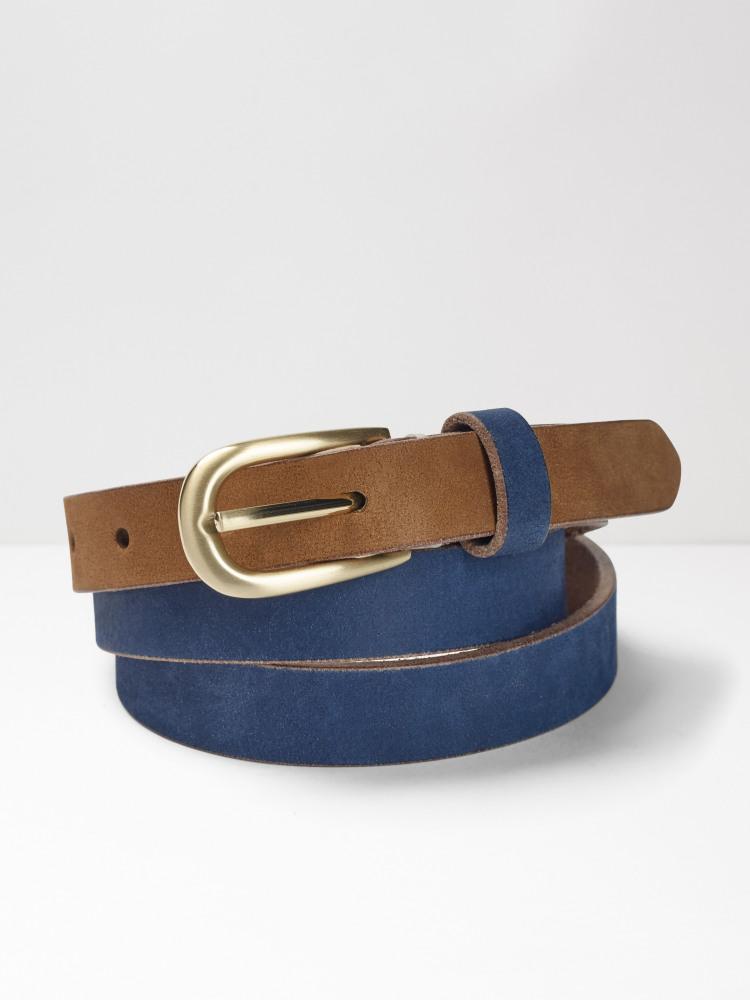Colourblock Leather Belt