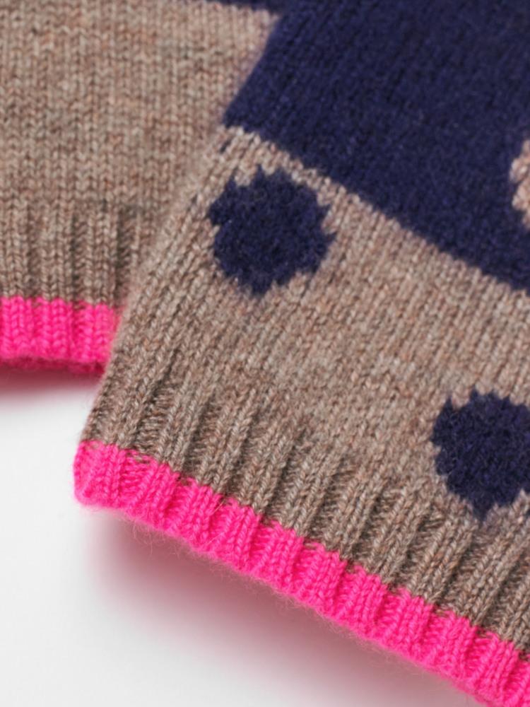 Cashmere Spot Fingerless Glove