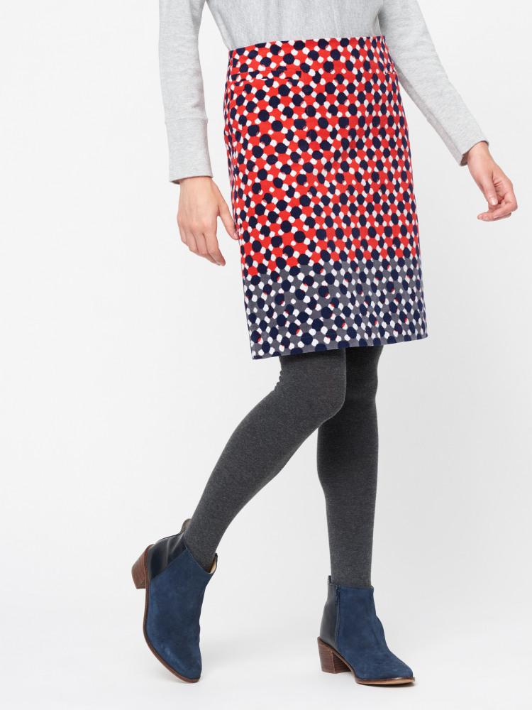 Hedgerow Spot Velvet Skirt
