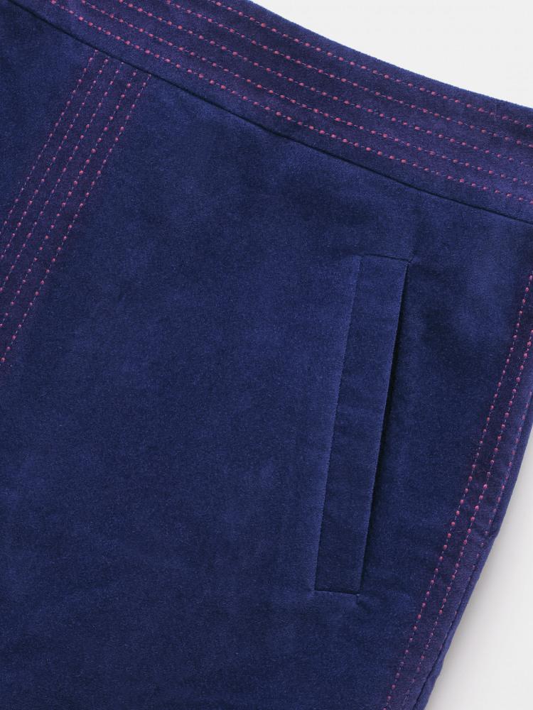 Haruki Plain Velvet Skirt
