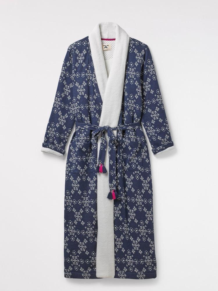 Starry Heart Lng Jacquard Robe