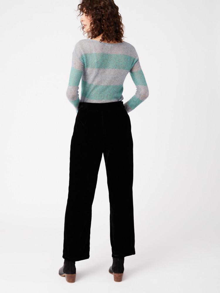 Black Magic Velvet Trouser