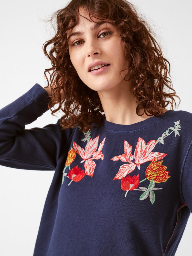 Fancy Floral Jersey Sweat