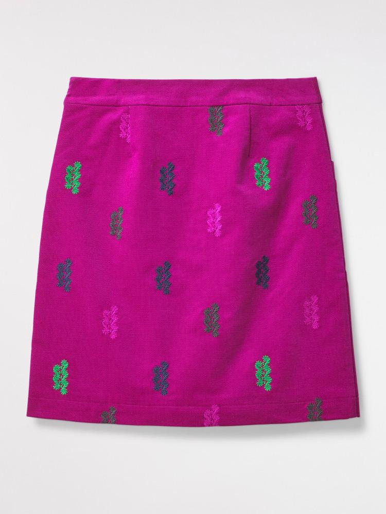 Evergreen Velvet Skirt