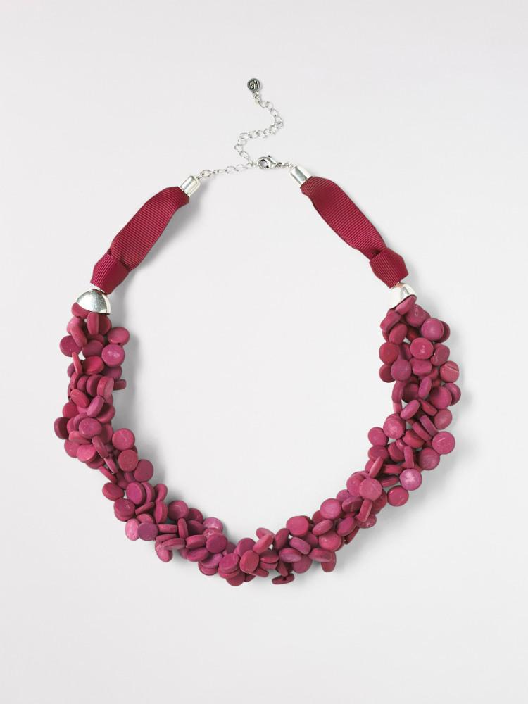 Plaited Mono Bead Necklace