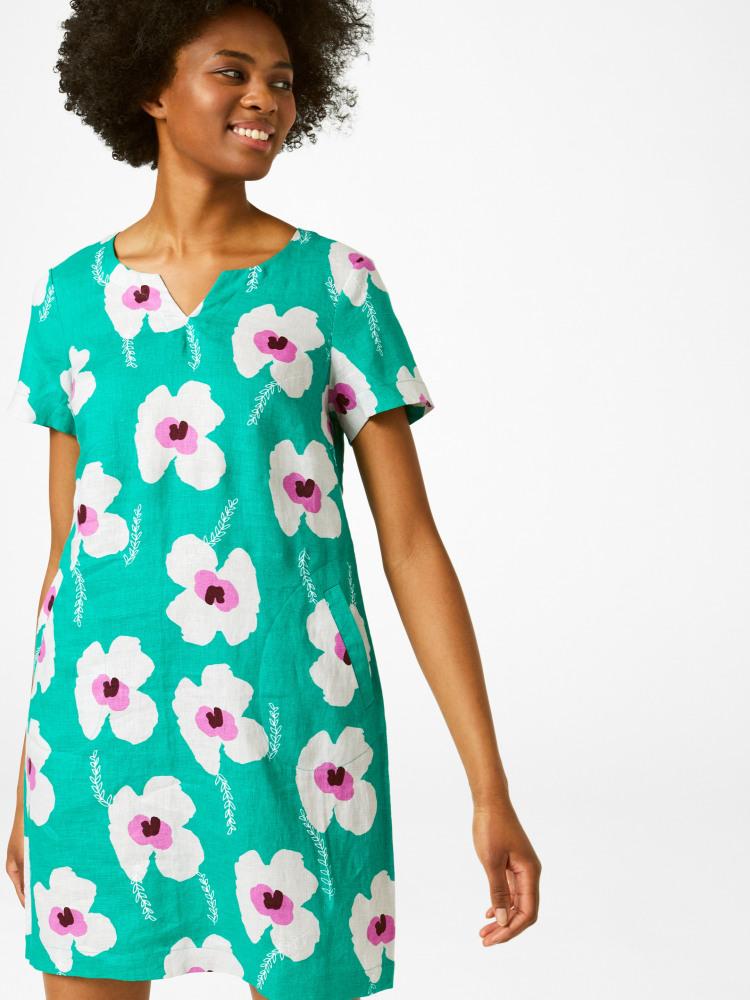 Sprig Linen Dress