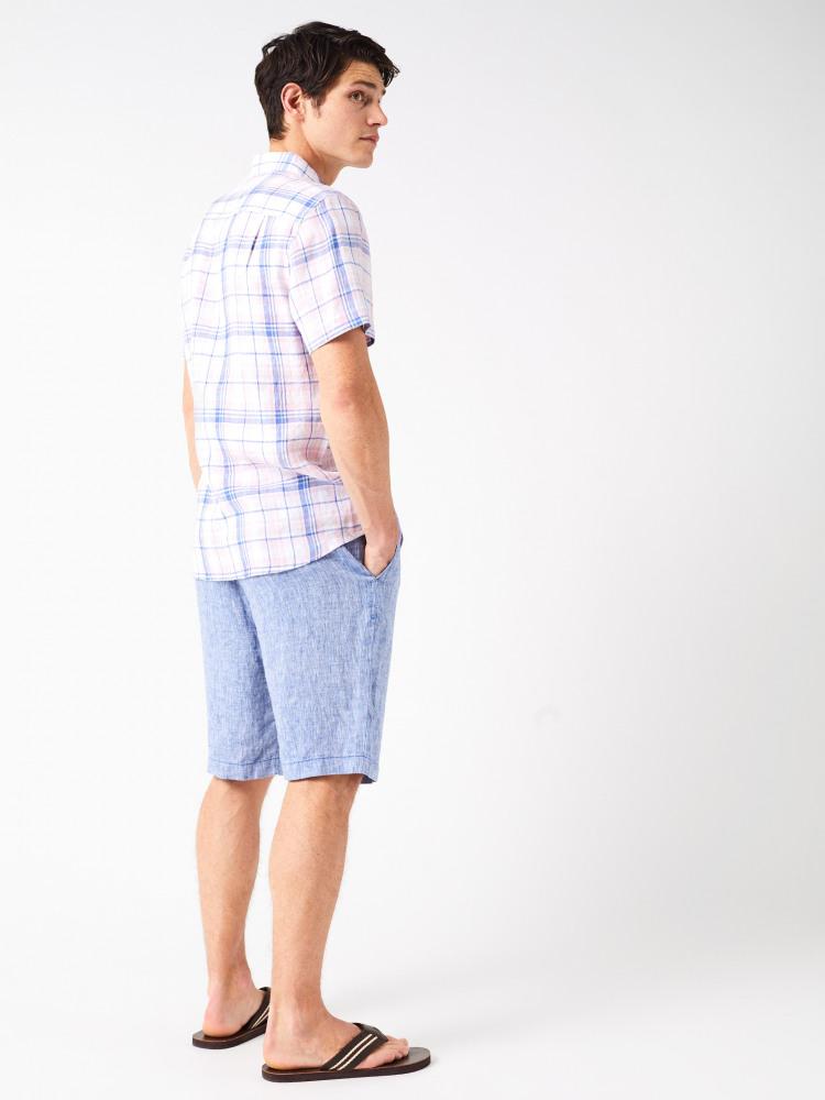 Lymington Check Short Sleeve Linen Shirt
