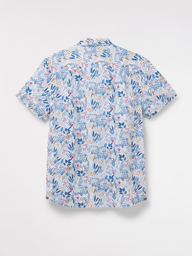 Tropical Birds Print Shirt