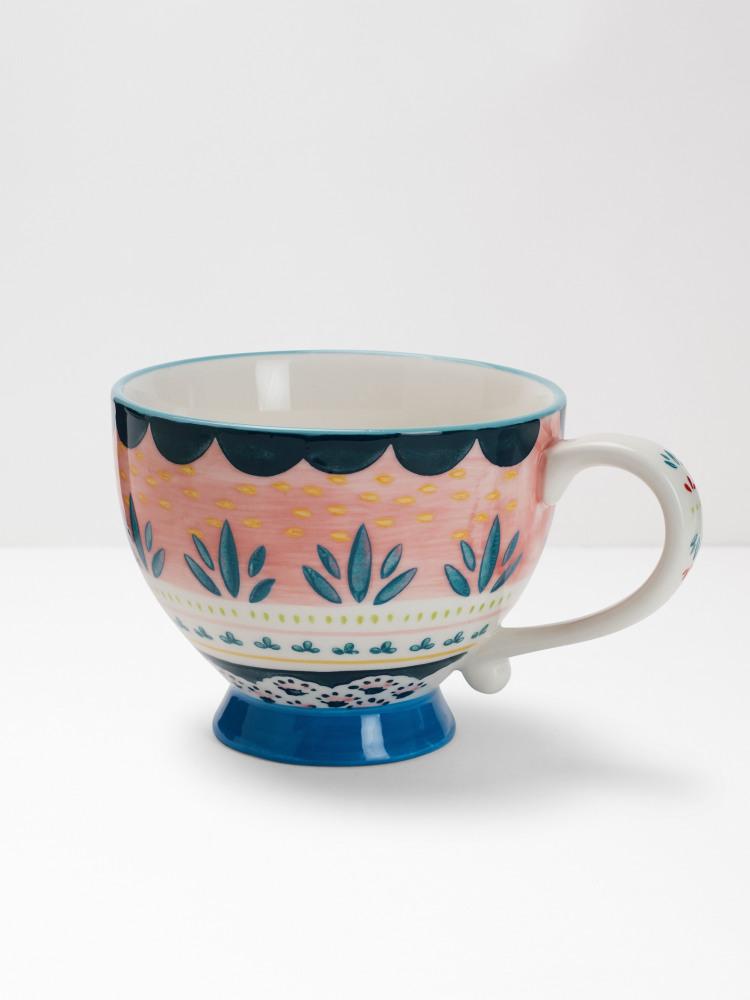 Pink Scallop Decorative Mug
