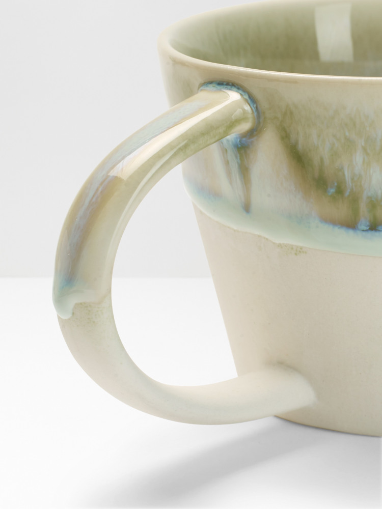 Dip Glazed Dripped Mug