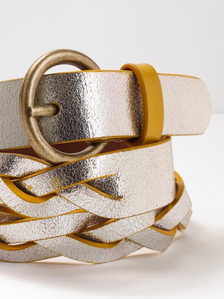 Metallic Plait Edge Dye Belt