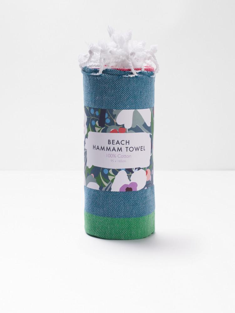 Teal Stripe Hammam Towel