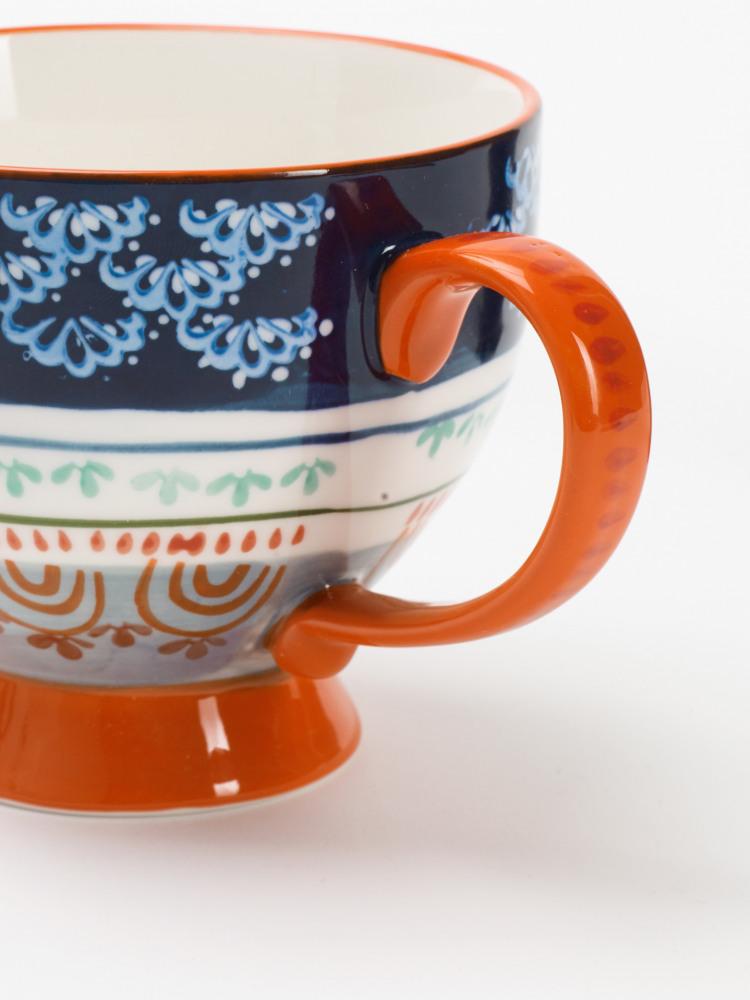 Blue Waves Decorative Mug