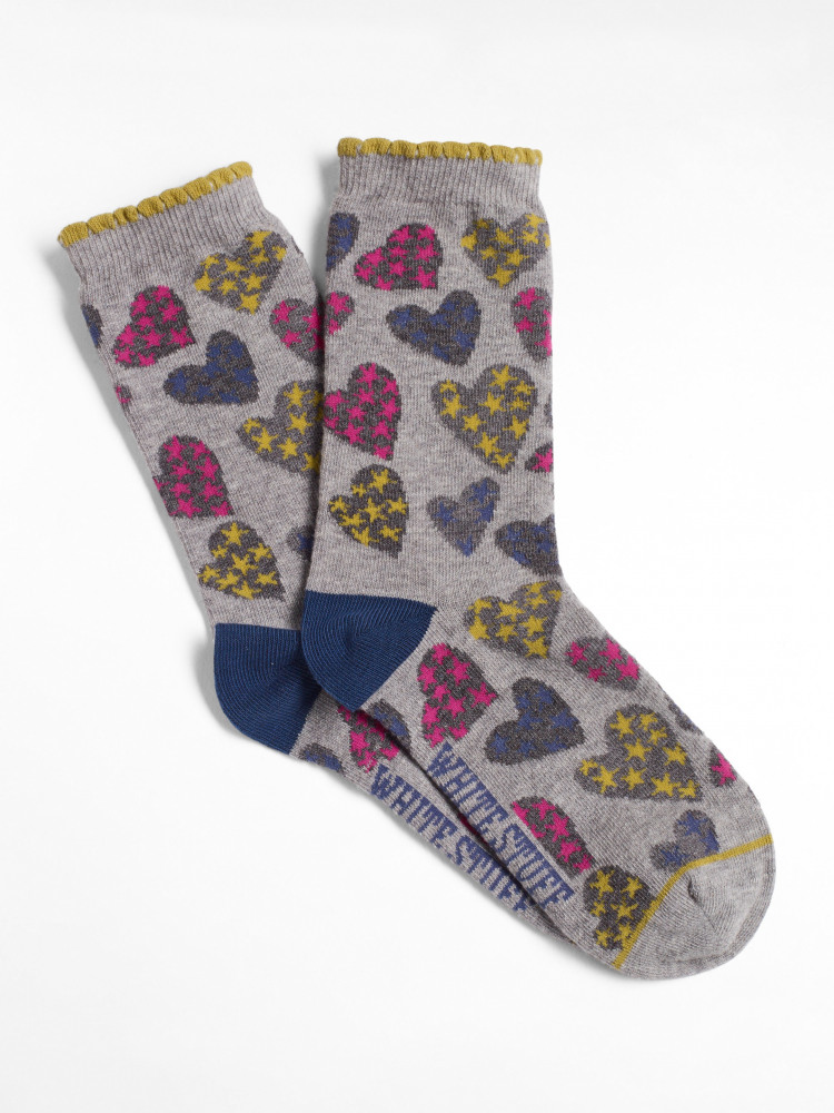 Sketchy Hearts Sock