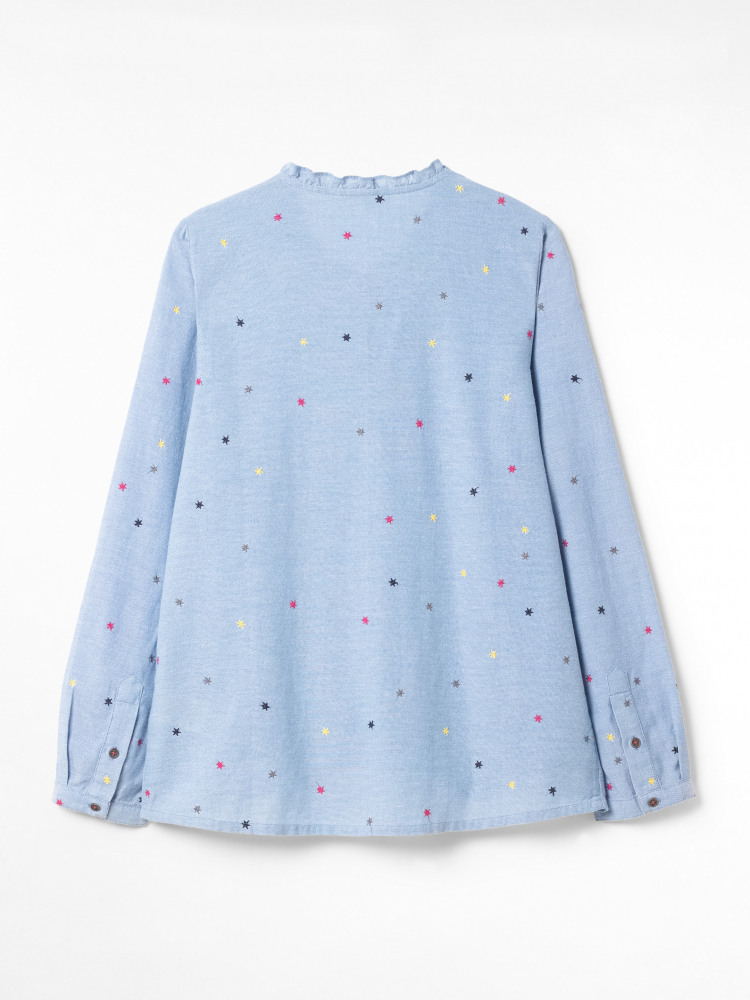 Cleo Cotton Embroidered Shirt