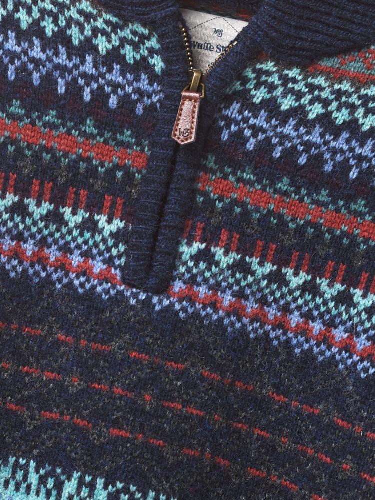 Runswick Pattern Zip Shawl