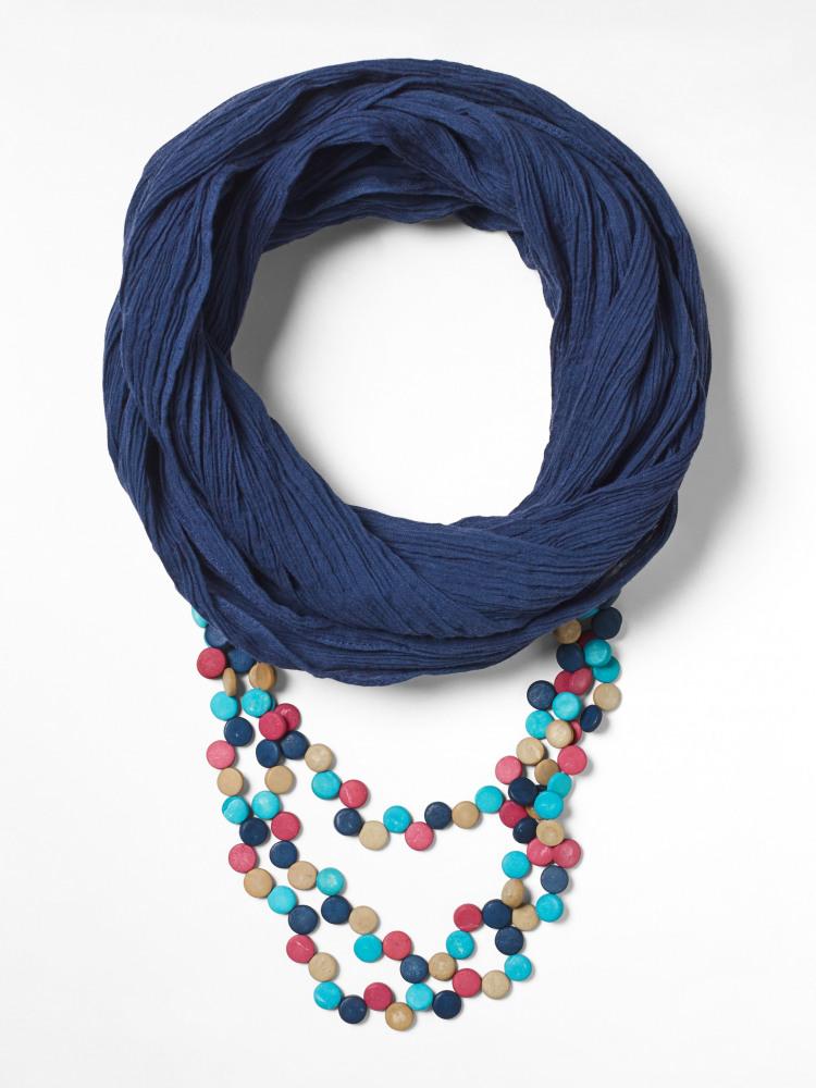 Multi Monobead Scarf Necklace