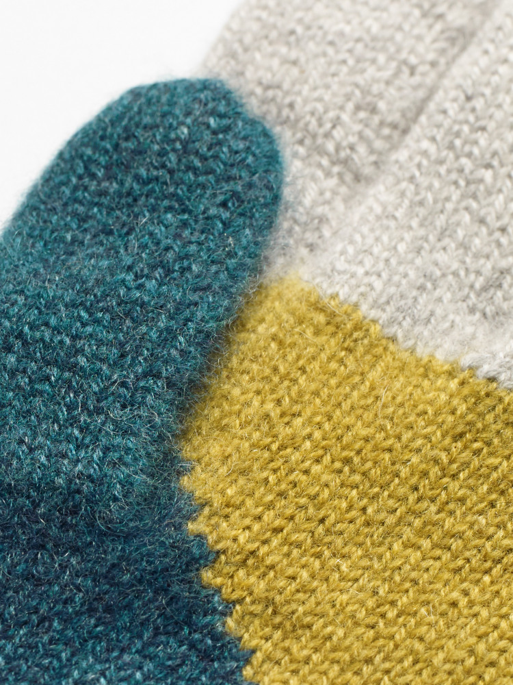 Cashmere Colourblock Gloves