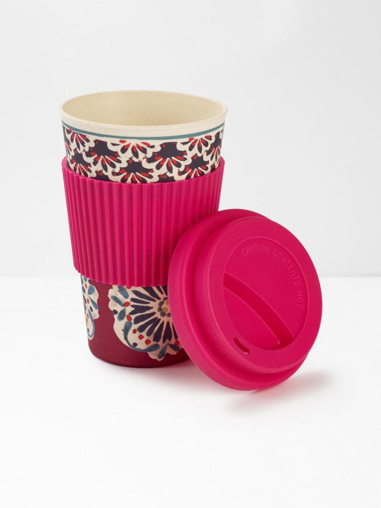 Plum Flourette Eco Coffee Mug