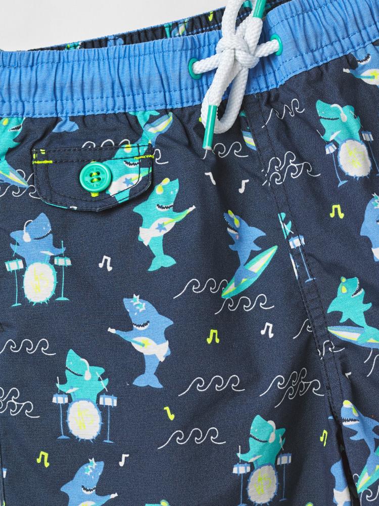 Shark Print Swim Shorts