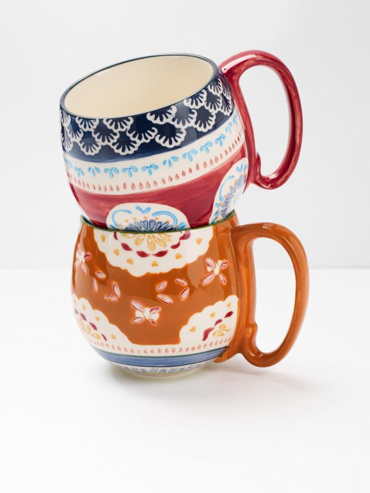 Set of 2 Decorative Mugs