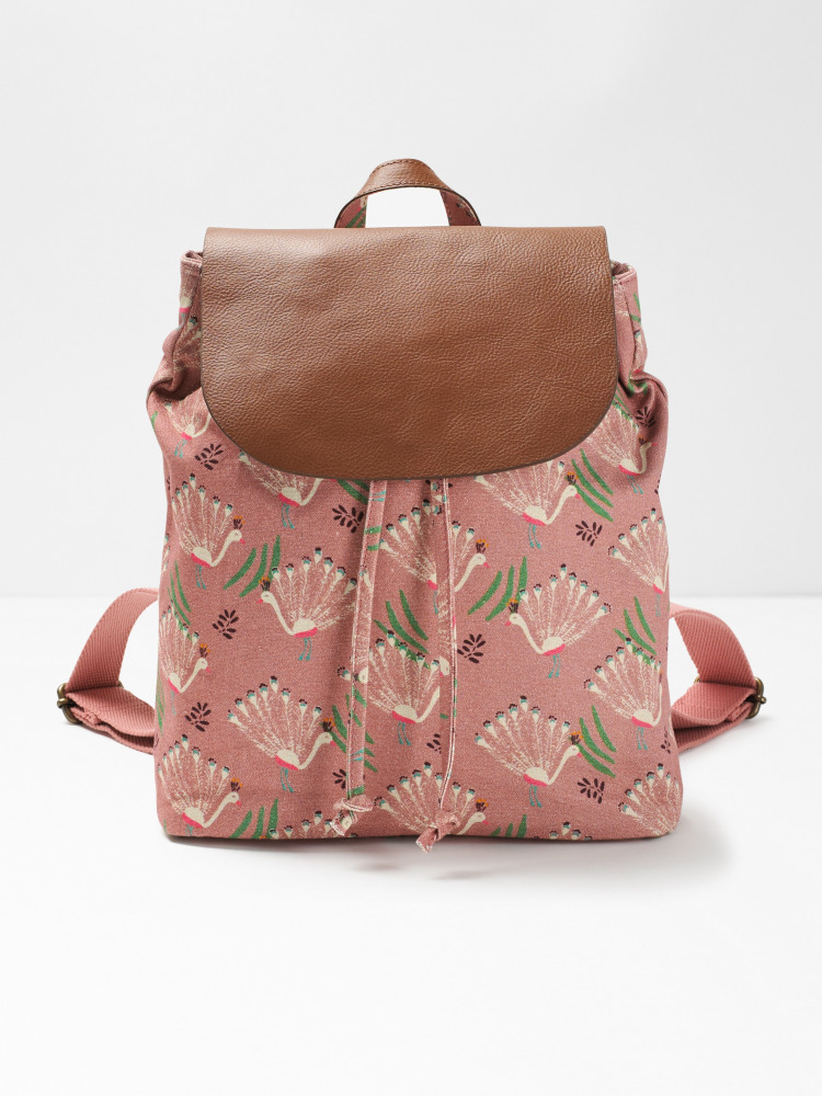 Carrie Printed Canvas Backpack