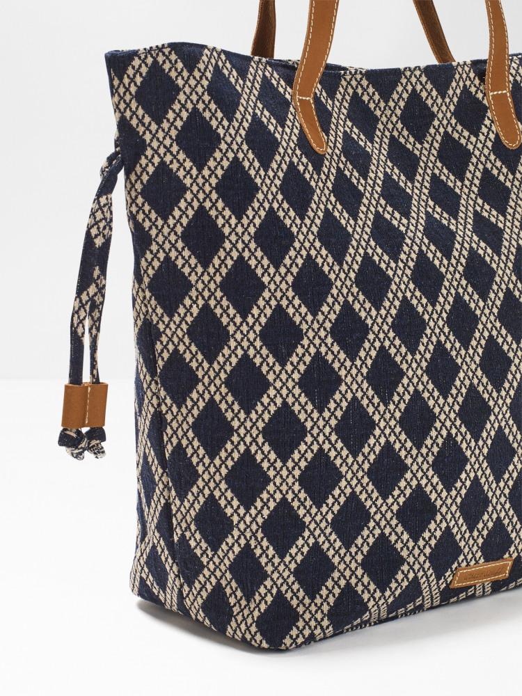 Anni Jacquard Duffle Tote Bag