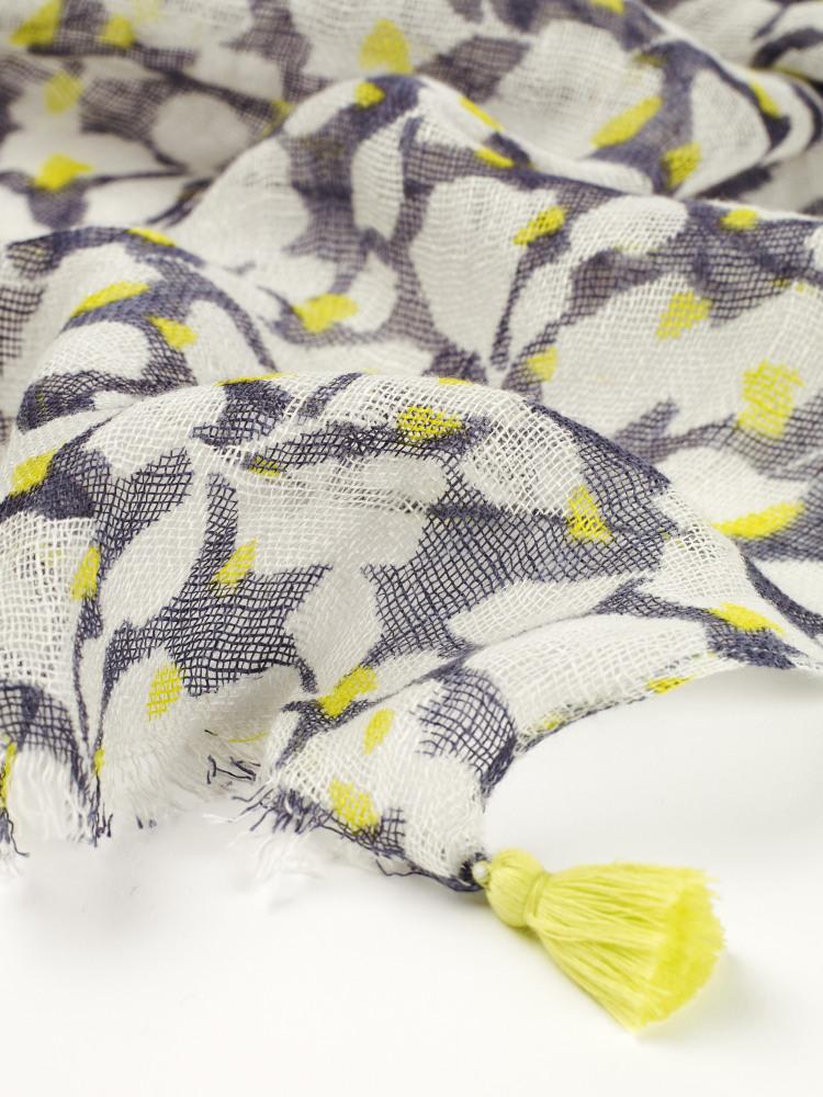 Steffie Printed Linen Scarf