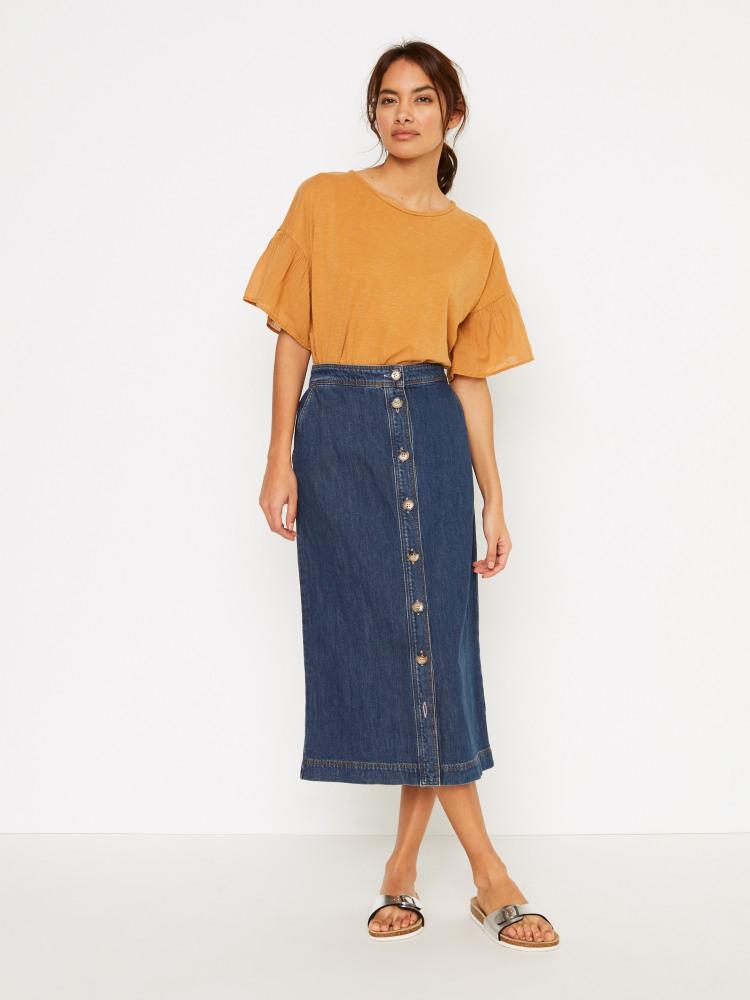 Daisy Chain Denim Skirt