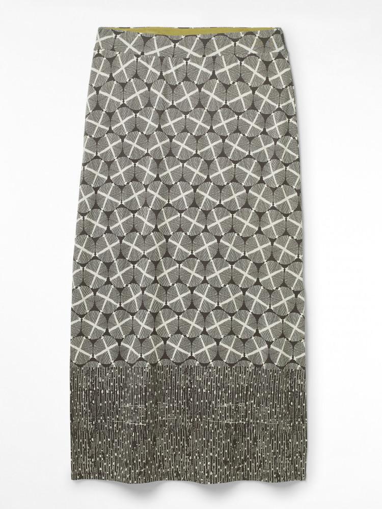 Warli Jersey Maxi Skirt