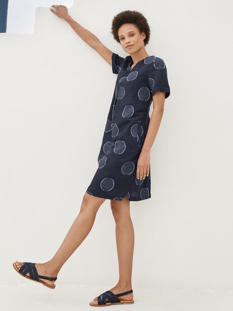 Ondine Jacquard Spot Dress