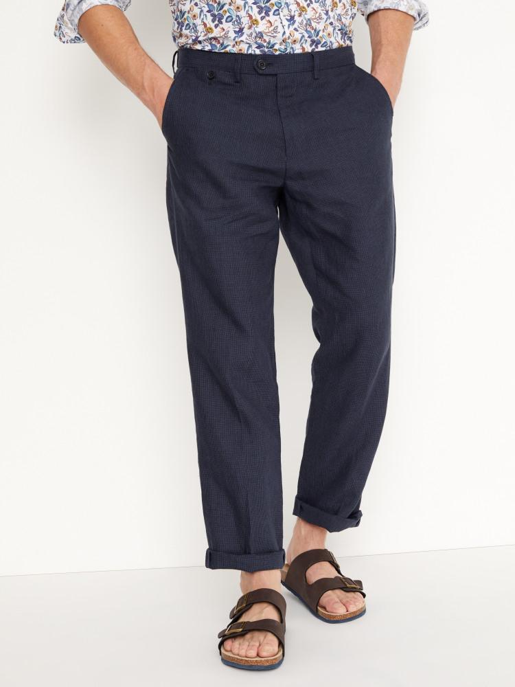 Northcote Puppytooth Linen Trouser