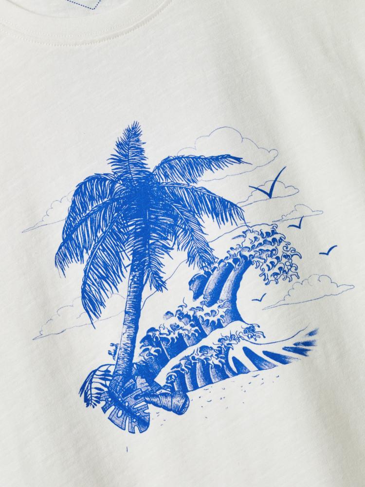 Desert Island Wave Graphic Tee