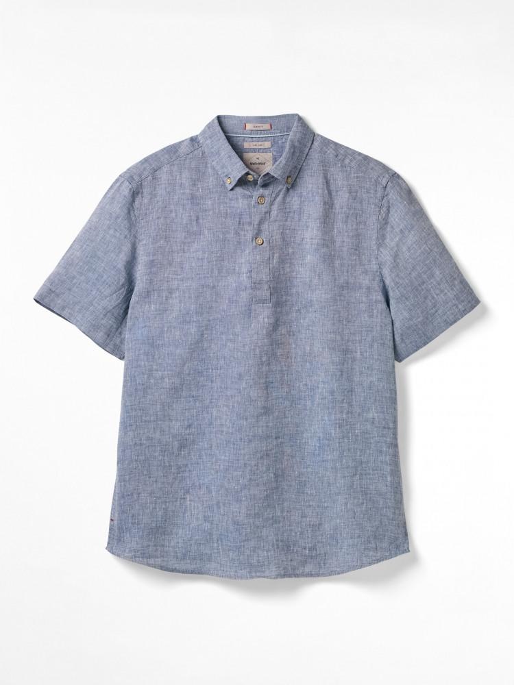 Popover Plain Linen Shirt