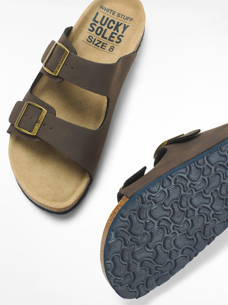 Mens Double Strap Footbed