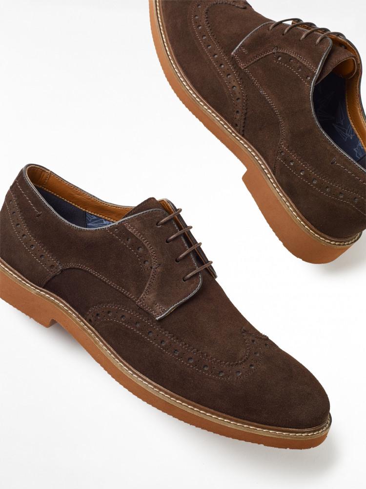 Bobby Suede Brogue Shoes