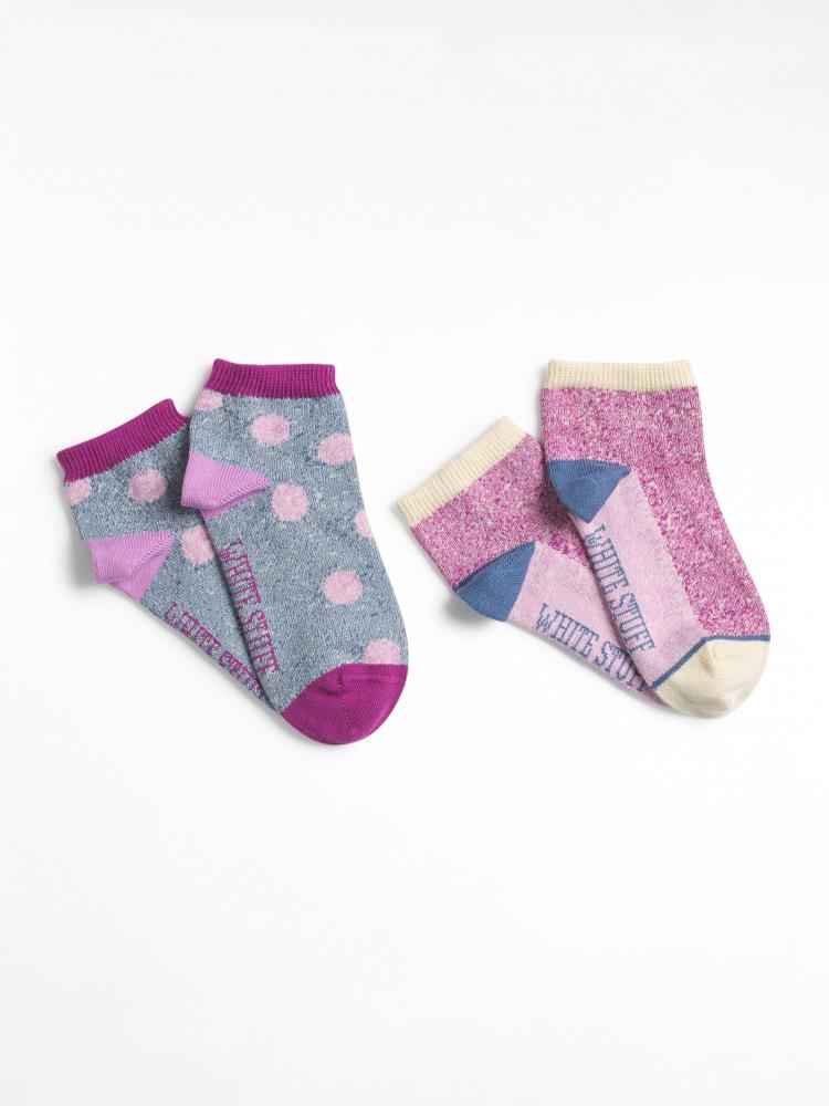 Marl Trainer Spot Sock 2 Pack
