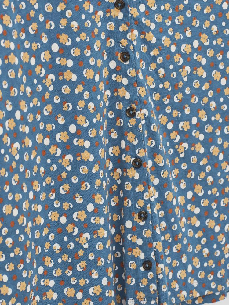 Button Organic Textured Top