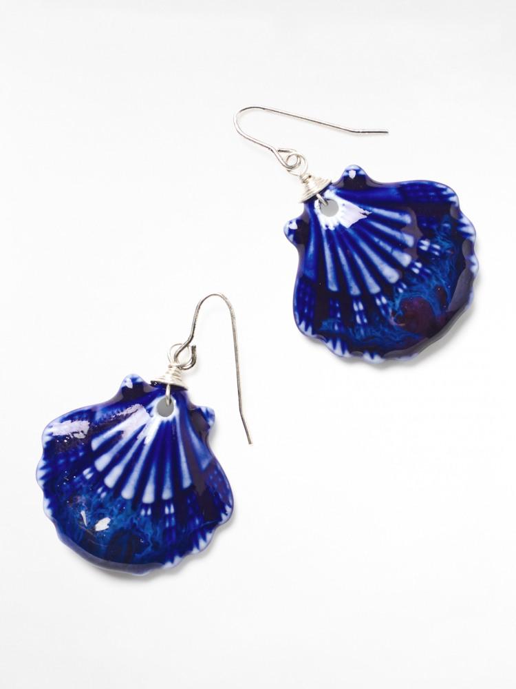Ceramic Shell Earrings