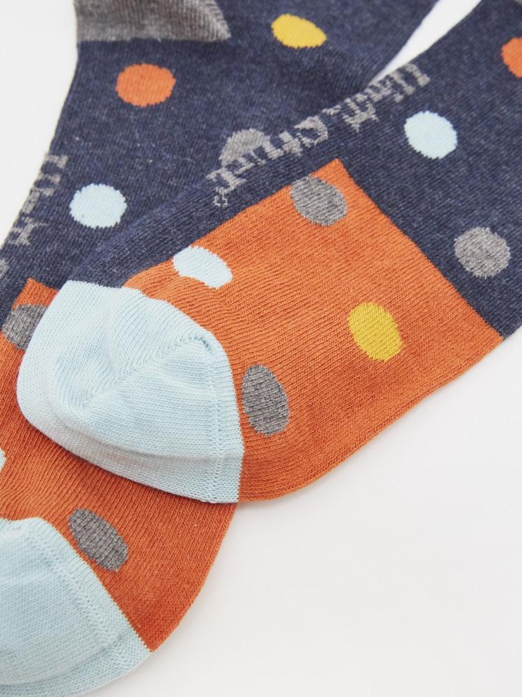 Colourblock Spot Socks