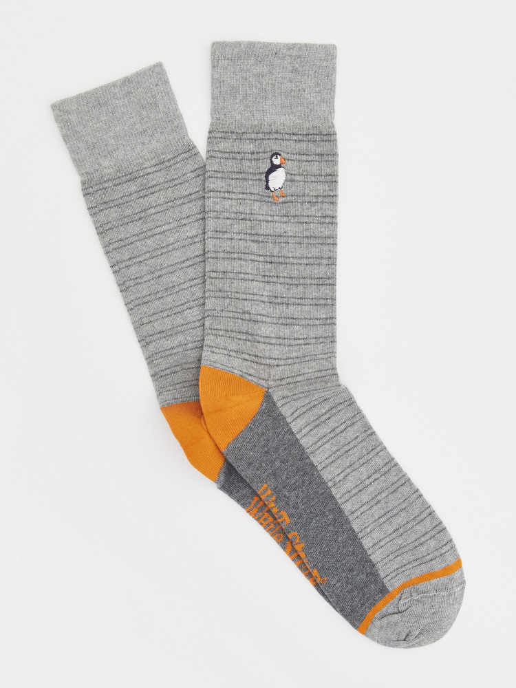 Embroidered Puffin Socks