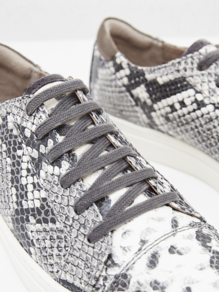 Jada Leather Lace Up Trainers