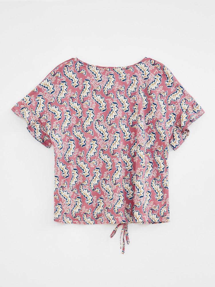 Shelly Frill Sleeve Jersey Tee