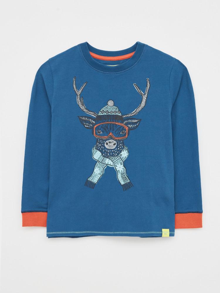 Mini Skiing Deer PJ Tee