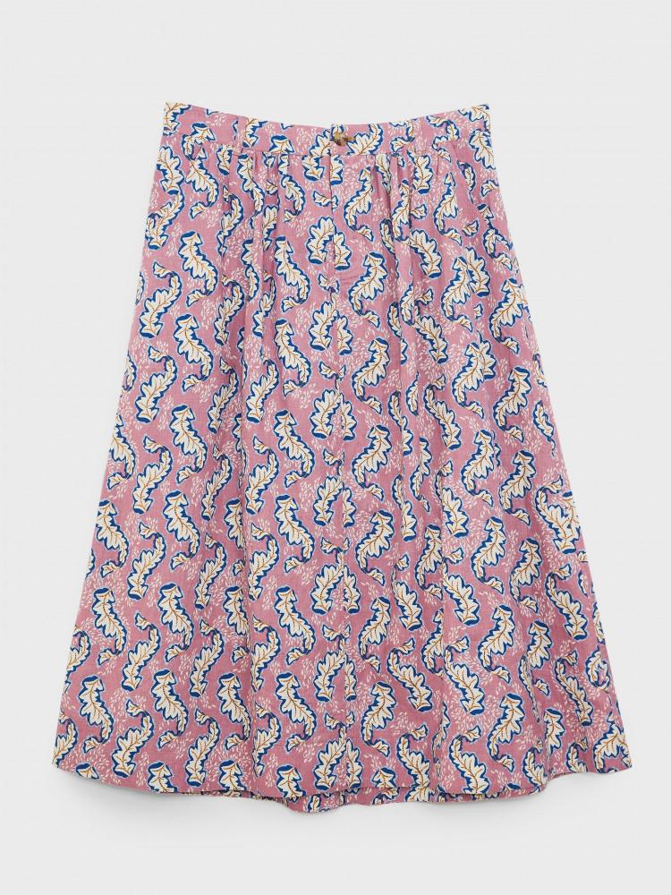 Mia Linen Midi Skirt