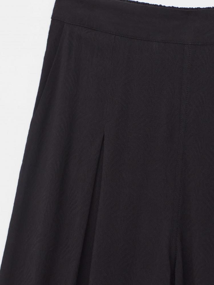 Wide Leg Jacquard Trousers