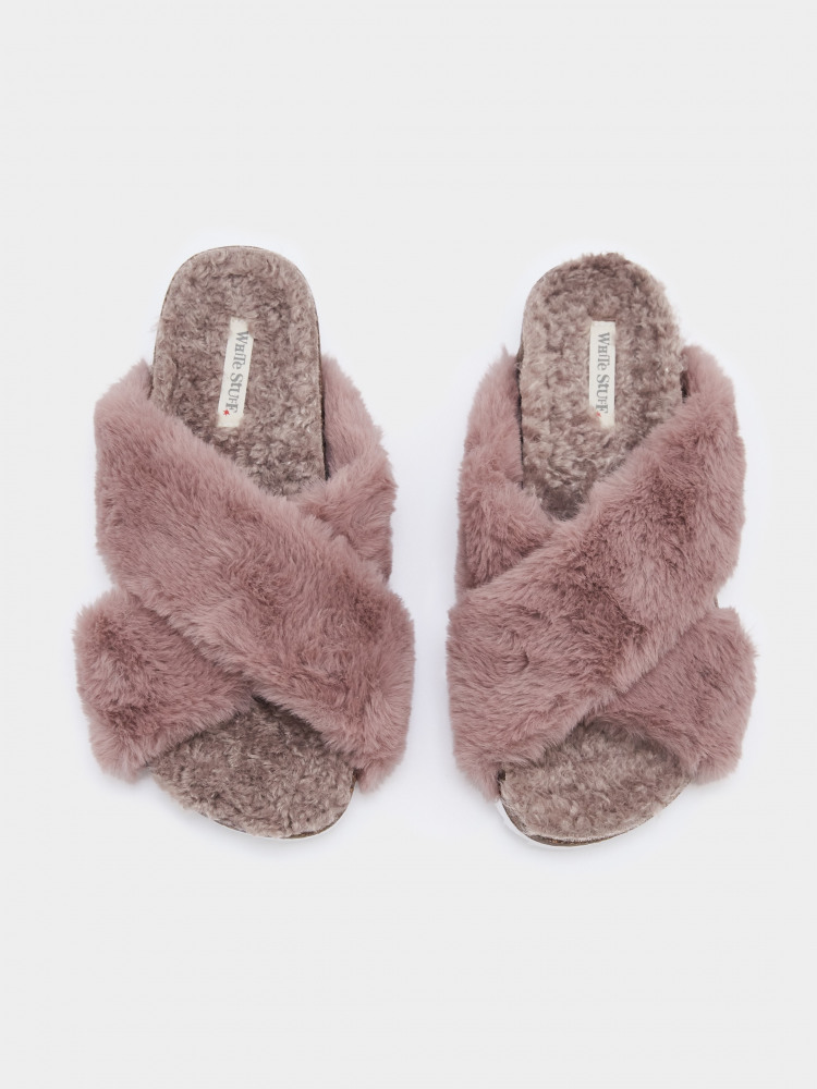 Faux Fur Footbed Slipper