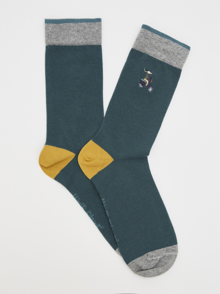 Badger Embroidery Sock